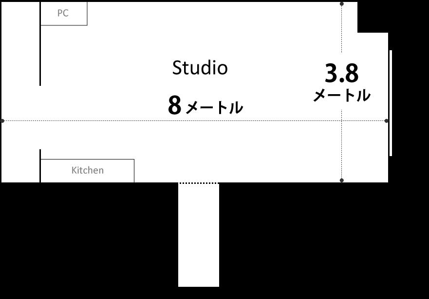 撮影スタジオ寸法